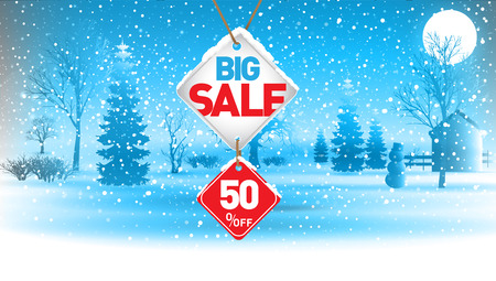 Big winter sale, 50  percent.