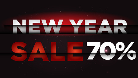 New Year Sale . Big winter sale,  70  percent Ilustrace