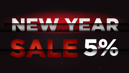 New Year Sale . Big winter sale,  5   percent