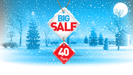 Big winter sale, 40  percent.