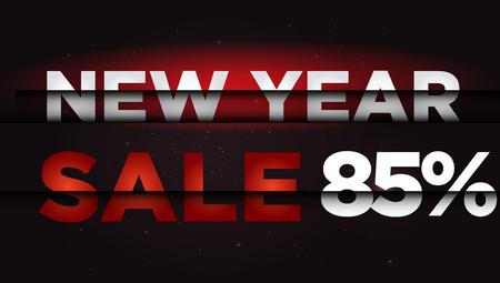 year: New Year Sale . Big winter sale,  85 percent