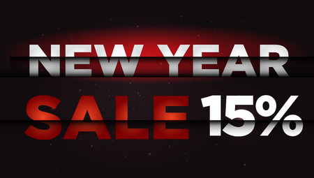 New Year Sale . Big winter sale,  15  percent