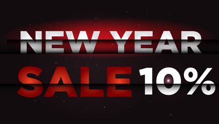 New Year Sale . Big winter sale,  10  percent