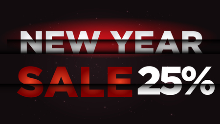 New Year Sale . Big winter sale,  25 percent