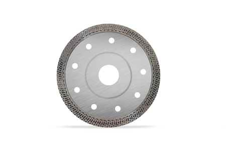 Cutting disk with diamonds - Diamond disc for concrete isolated on the white background