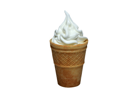 ice cream in the corn. white background