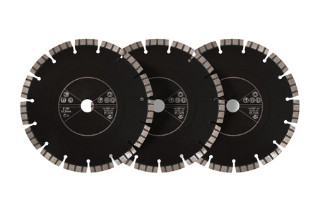 Cutting discs with diamonds - Diamond discs for concrete isolated on the white background Reklamní fotografie