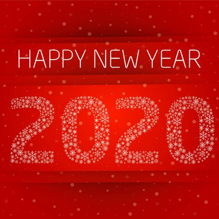Happy New Year 2020. Background with snowflakes