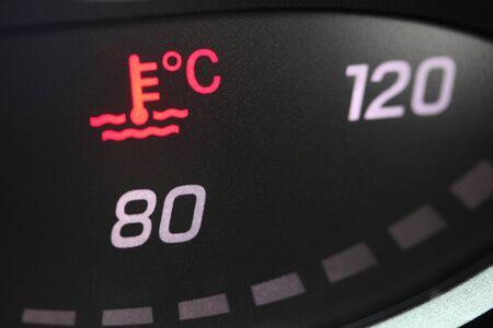 Vehicle coolant warning light
