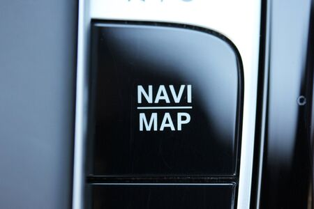 Navi / Map button in luxury vehicle