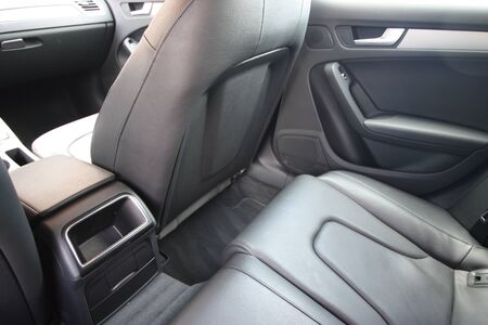 Detail of luxury car interior Stock Photo
