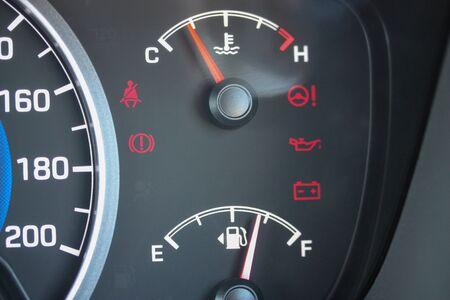 Budget vehicle coolant and fuel gauges