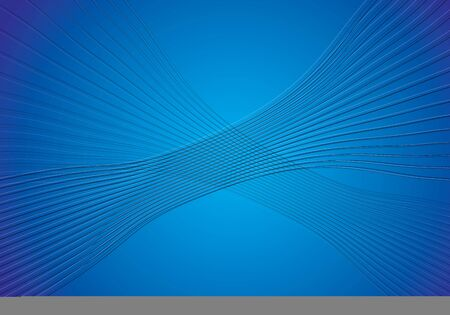 Abstract background. Black curled lines on blue gradient background.
