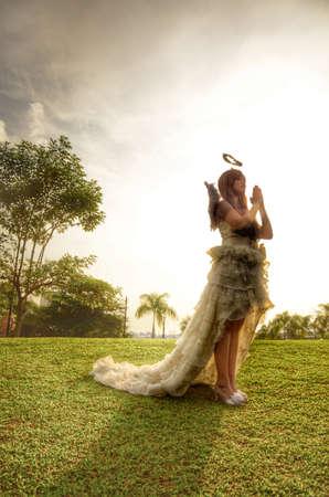 wish: Woman in an angel costume