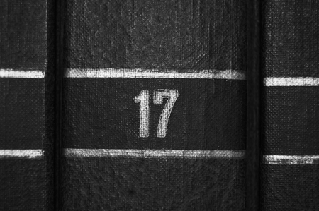 17: N�mero 17 Foto de archivo