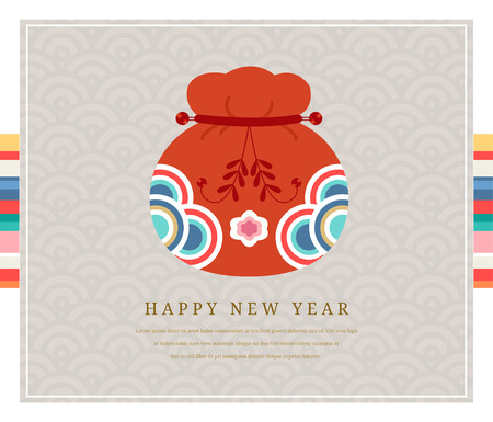 Korea tradition new year card