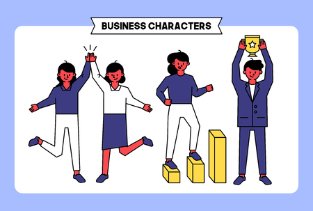 Business people and office workers vector design.