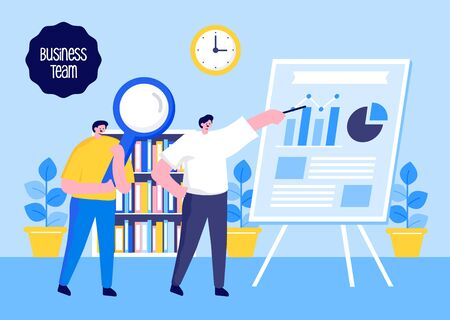 Business Concept. Team Work. Vector illustration flat design.