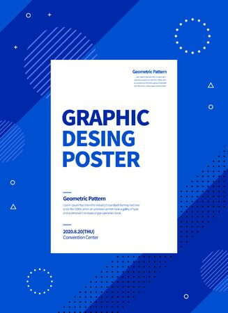 flat geometric pattern poster. graphic vector background.