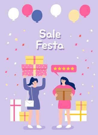 Sale Festa illustration.