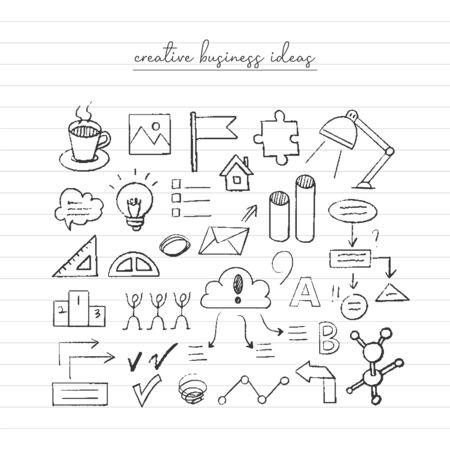 Business idea sketch. Hand drawn doodle.