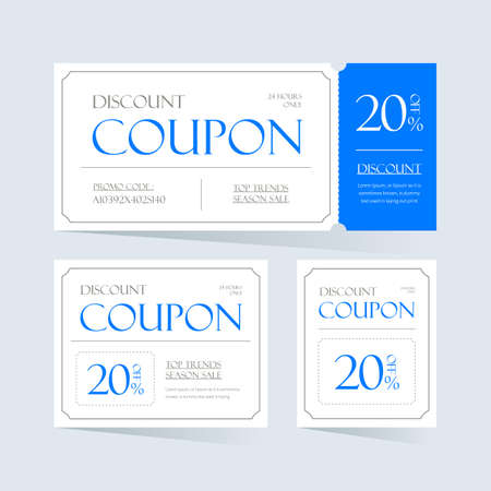 Coupon Ticket Card design. Element template for Graphic Design Vector Illustration.