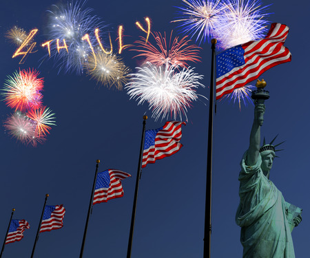 Fireworks for independence day Banco de Imagens