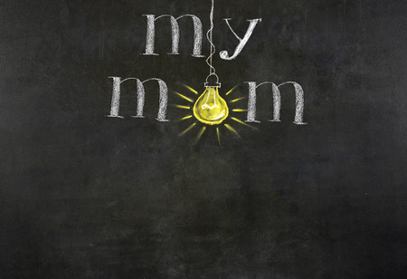 short phrase: Mothers Day message on blackboard