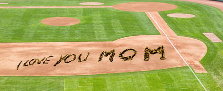 short phrase: Quotes for Mothers Day in Baseball Stadium Stock Photo