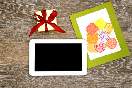 Gift and tablet for Mothers Day