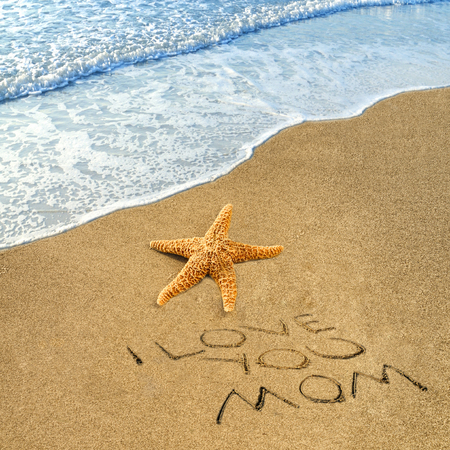 short phrase: Starfish with Mothers Day quotes Stock Photo