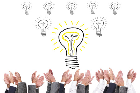 Clapping to a New Idea Stock Photo