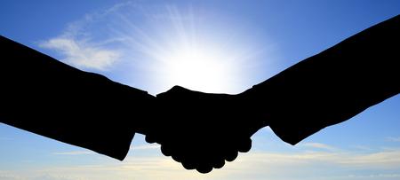 Handshake against the sun
