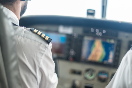 cessna: Pilot in a Cessna 400.