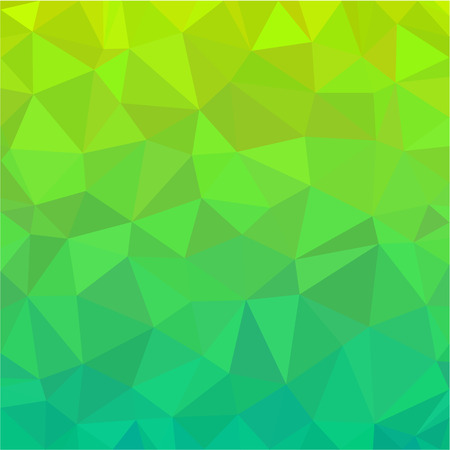 polygonal: Green Polygonal vector
