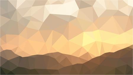mountain sunset: mountain sunset polygon vector background Illustration