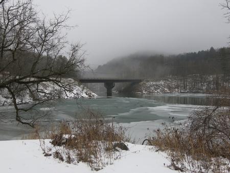 Winter Bridge Banco de Imagens