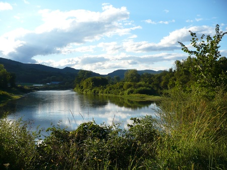 Lake in Barnard VT Stock Photo