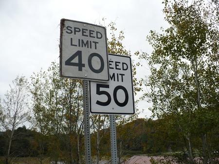 Two speed limits Stok Fotoğraf