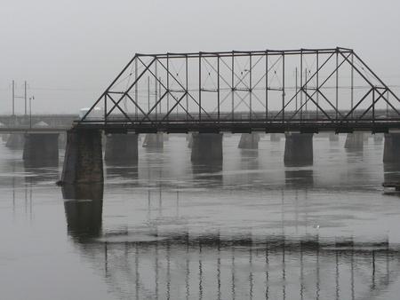 pa: Maple st Bridge Harrisburg PA Stock Photo