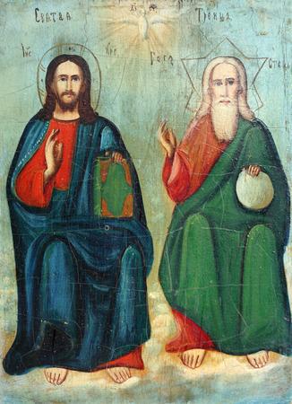 vierge marie: Vieux icône orthodoxe