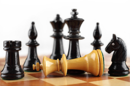 Chess concept. Checkmate white king. photo