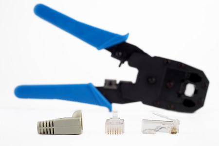 crimping: Lan connector and Crimping tool.