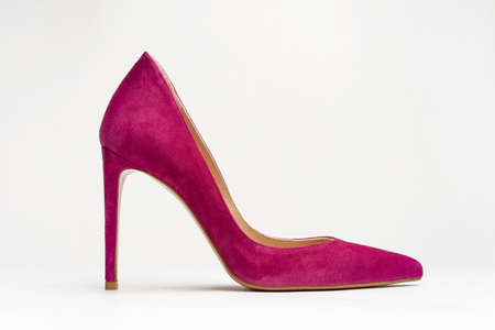 close up of women shoes high heels on white background