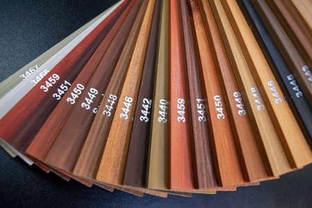Color palette of paints for wood Zdjęcie Seryjne