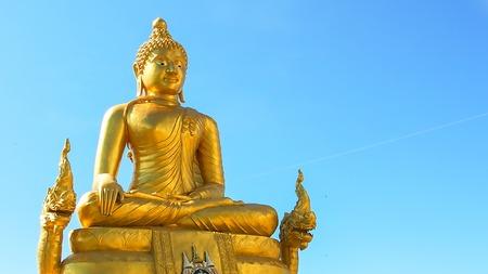 godhead: Golden Buggha near Big Buddha on the Phuket Thailand