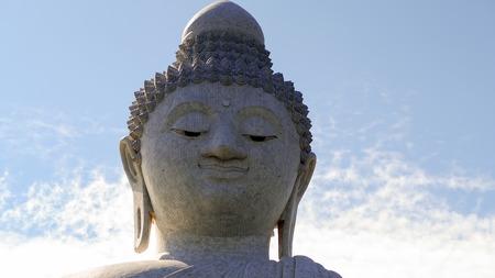 phuket province: Face Big Buddha at Phuket, Thailand. Stock Photo