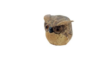 bibelot: Owl wood, characteristic owl graven in the wood