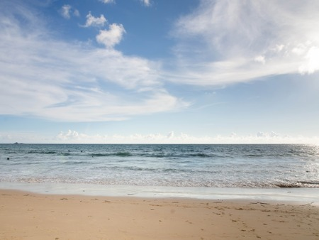 blandness: Beautiful beach and summer sky ,Nai Thon beach, Phuket Stock Photo