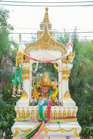 worshipping: Hindu god the ganesh statue in Thailand Stock Photo
